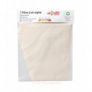 2 filtres à lait végétal coton bio