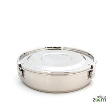 Boite inox compartiments diam 19cm