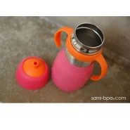 SAFE SIPPY 2 - Gourde anti-fuite - ROSE - KID BASIX