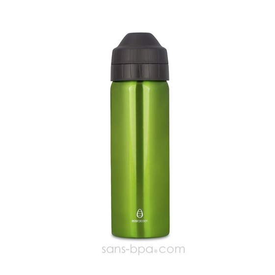 Cocoon - Green - gourde 600 ml - Isotherme & anti-fuite - Ecococoon