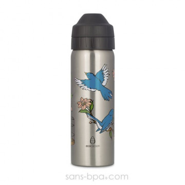 Cocoon - Chinoiserie Birds - gourde 600 ml - Isotherme & anti-fuite - Ecococoon