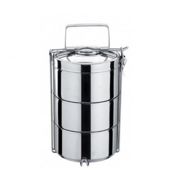 Tiffin tout inox 3 étages isotherme - ONYX