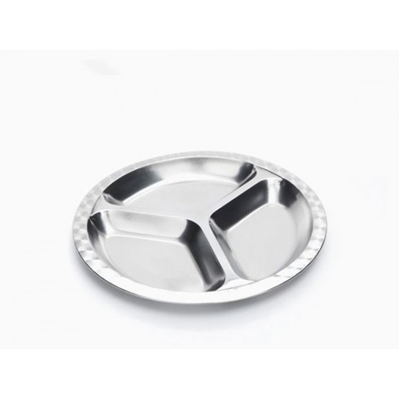 Assiette Inox à compartiments - Grand modèle - Rectangle - ONYX