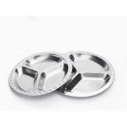 Assiette Inox à compartiments - Grand modèle - Rectangle - ONYX