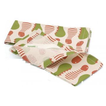 Serviette Set coton recyclé CHENILLES