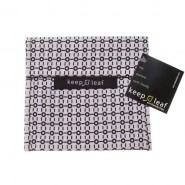 Pochette White & Black - ZOISEAUX - KEEP LEAF