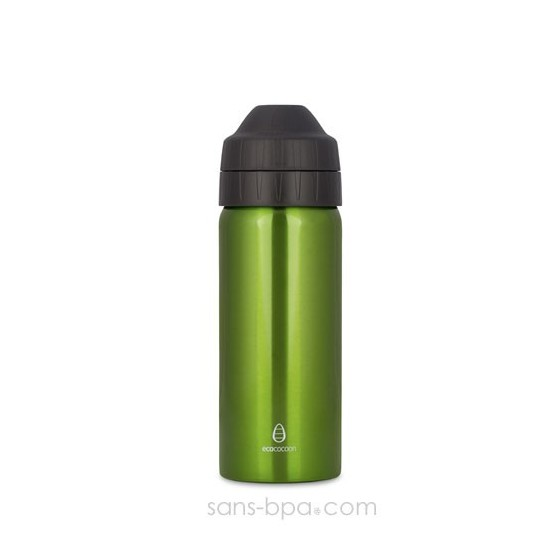 Gourde inox isotherme anti-fuite Cocoon 500 ml - Green - Ecococoon