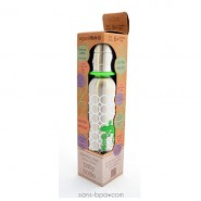 Biberon isotherme Jolie Fleur - 270 ml goulot étroit - Organic Kidz