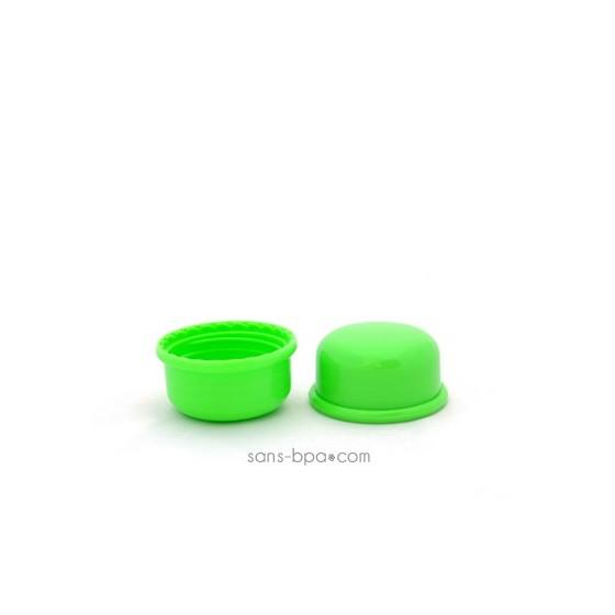 Lot 2 capuchons green pour biberon Goulot Etroit - Organic Kidz