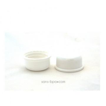 Lot 2 capuchons blanc pour biberon Goulot Etroit - Organic Kidz