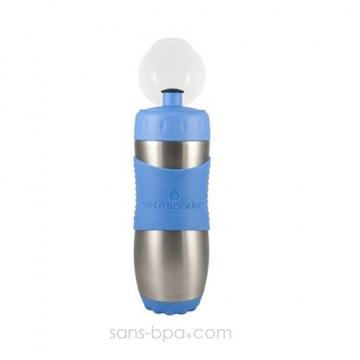 SAFE SPORTER - Gourde inox 473 ml - BLEU - KID BASIX