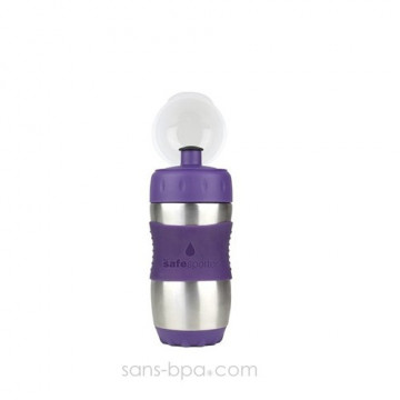 SAFE SPORTER - Gourde inox 355 ml - MYRTILLE - KID BASIX