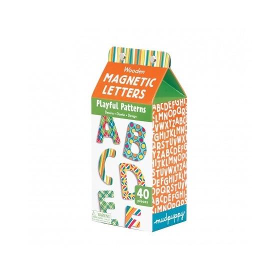 Lettres ABC magnétiques en bois - MudPuppy