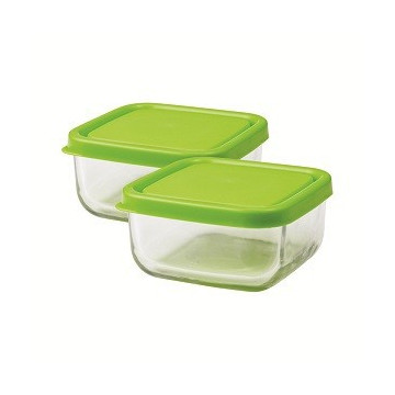 Duo carré verre 360ml GREEN