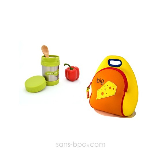 Ensemble isotherme 2 pièces sac fromage
