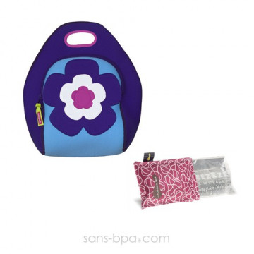 Pack glace Framboise & sac isotherme FLOWER - DabbaWallabags