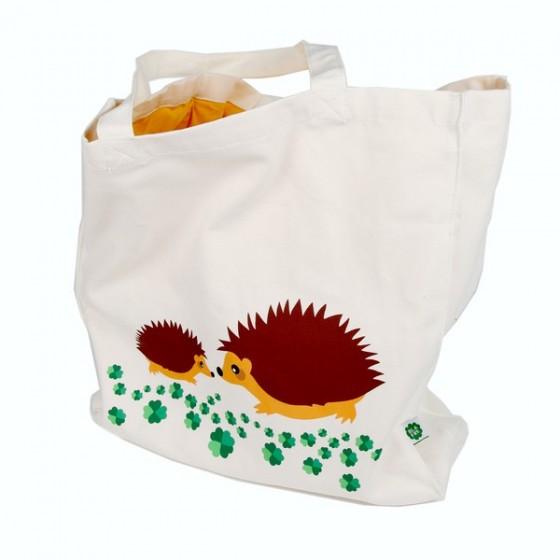 Grand sac tissu - HIBOU VIOLET - Blafre