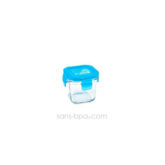Contenant verre Wean Cube 120ml - Carotte