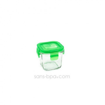 Contenant verre Wean Cube 120ml - Green