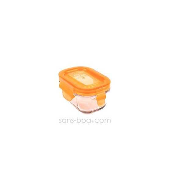 Contenant verre Wean Tub150ml - Carotte