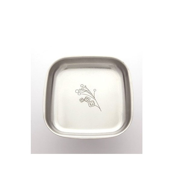 Assiette inox 16 cm BRIN DE NATURE