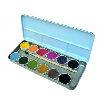 Aquarelle métallique 12 couleurs