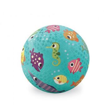 Balle caoutchouc 18 cm PETITS POISSONS