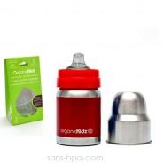 Bib-gourde anti-fuite 120ml BLEU