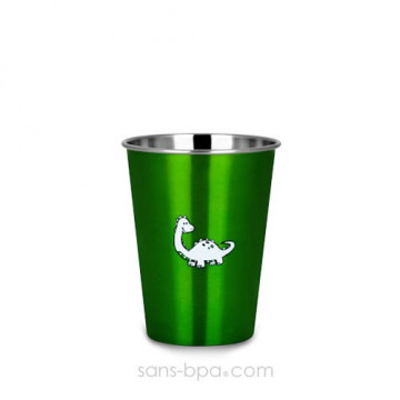 Verre inox 350ml GREEN DINO