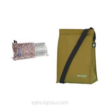Pack glace Azur & son sac isotherme KIWI - Kids Konserve